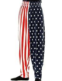 BAGGY GYM WORKOUT PANTS-USA FLAG PRINT