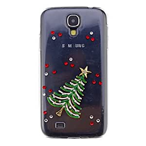 GJYChristmas Tree Alloy Ornament Transparent Jewelry Back Case for Samsung Galaxy S4 I9500