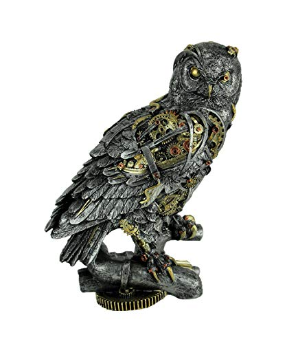 Everspring Metallic Silver and Gold Gothic Steampunk Owl