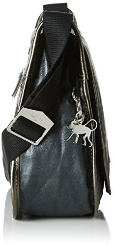 Kipling New Luxeables - Bolsos bandolera Mujer Negro (Night Metal)
