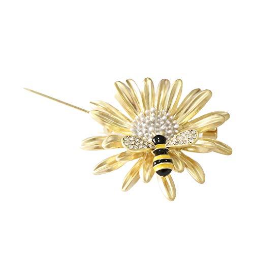 Shinywear Brooch Pin Vintage Sunflower Bee by Shinywear (Image #2)