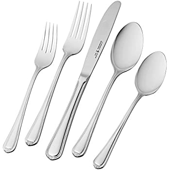 J.A. Henckels International Alcea 65-pc 18/10 Stainless Steel Flatware Set