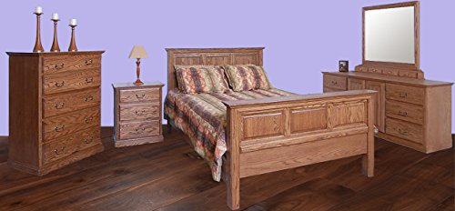 Forest Designs Traditional E King Panel Bed & Chest & Dresser & Mirror & Nightstand E King Unfinished Alder Alder Set Dresser