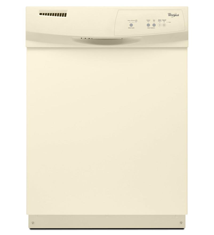 WHIRLPOOL GIDDS-109900 Built-In 24'' Tall Tub Dishwasher, Bisque, 3 Cycles/2 Options by Whirlpool