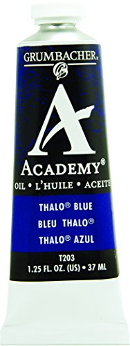 Grumbacher Academy Oil Paint, 37 ml/1.25 oz, Thalo (Academy Oil Color Paint)