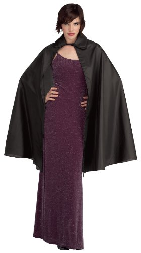 Rubie's Costume Taffeta 3/4 Length Cape Costume, Black, (Cape Taffeta Costumes)