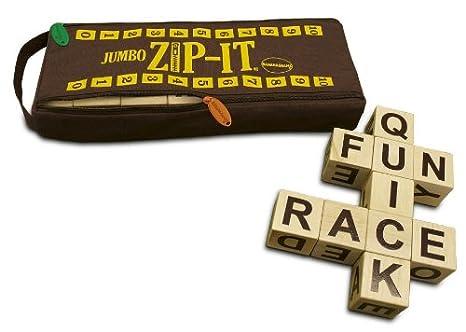 amazon com jumbo zip it word board game toys games