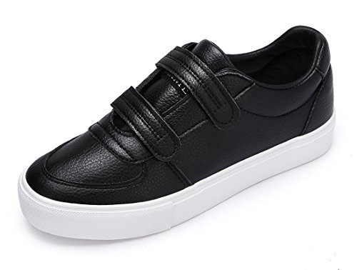 Camel Platform - CAMEL CROWN Women's Hook and Loop Court Sneakers Casual Walking Slip-On Shoes Fashion Sneakers Black-White Size 9