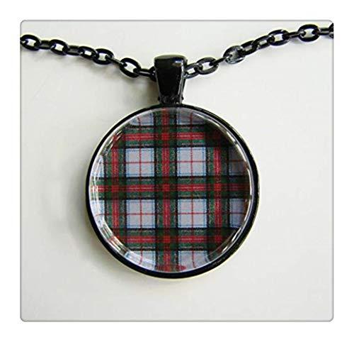 Stewart Victoria Scottish Tartan Necklace,Scottish Wedding Necklace, Bridesmaids, Royal Family Plaid,Friendship - Stuart Royal Tartan