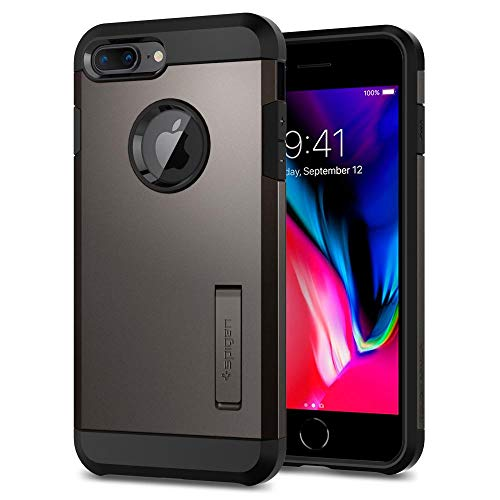 Spigen Tough Armor [2nd Generation] Designed for Apple iPhone 8 Plus Case (2017) / Designed for iPhone 7 Plus Case (2016) - Gunmetal