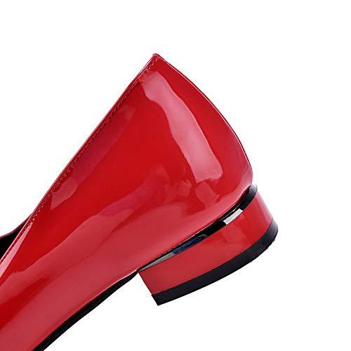 Rosso Flats Ballet Puro GMMDB006277 Basso AgooLar Tirare Tacco Donna F6OqaWxTn8