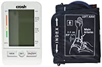 Coosh Upper Arm Digital Blood Pressure Monitor with Large LCD and 90 Memory Capacity