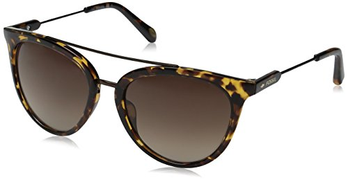 Fossil Fos3056s Round Sunglasses, Havana/Brown Gradient, 54 - Sunglasses Fossil Women