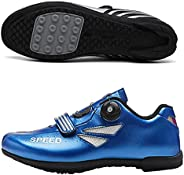 Cycling Shoes Mens Womens - Lockless Casual Road Bike Shoes Outdoor Hard-Soled Mountain Biking Sports Shoes