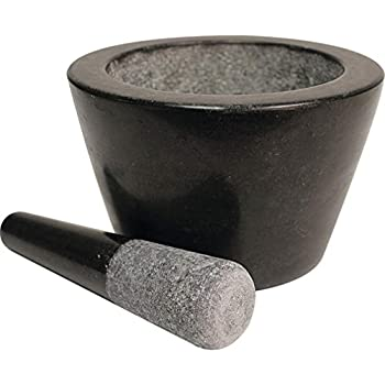 Amazon Com Maxam 8 Quot Granite Mortar And Pestle Extra Deep