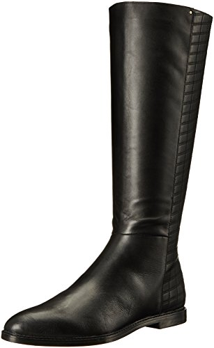 Calvin Metallic Heels - Calvin Klein Women's Donnily Riding Boot, Black Leather, 6 M US