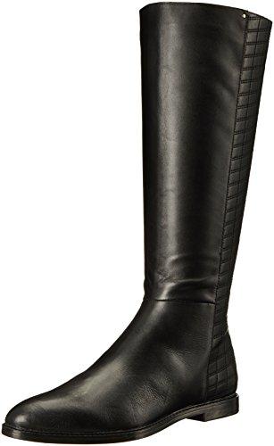 Calvin Klein Women's Donnily Riding Boot - Black Leather ...