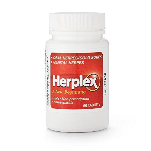 Prescription Cold Sore Treatment - Herplex Herpes Treatment - Tablets for Herpes Outbreaks & Cold Sore Treatment with No Side Effects - Prevents Outbreaks - HSV2 Treatment Quickly Eases Herpes Outbreaks and Cold Sore Symptoms