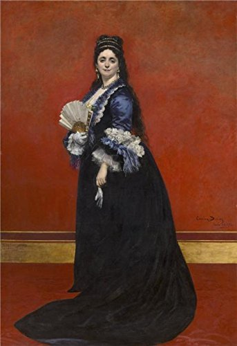 Oil Painting 'Portrait Of Mrs. De Rute Born Maria Laetitia Bonaparte-Wyse By Carolus Duranm,1872', 12 x 17 inch / 30 x 44 cm , on High Definition HD canvas prints, Foyer, Gym And Nursery Decoration
