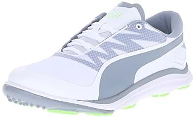 Puma Men's BioDrive Golf Shoe, White/Tradewinds/Green Gecko, 7 Medium