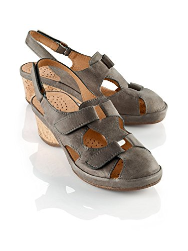 Sandalo Avena Da Donna Con Cuscino Daria - Velcro Regolabile Con Chiusura A Velcro