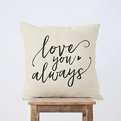Love you always Throw Pillow Cover, Wedding Gift, Wedding Cushion Cover, Couple gift, Anniversary Gift, nursery cushion cover, Home decor, - Collection Coach Ashley