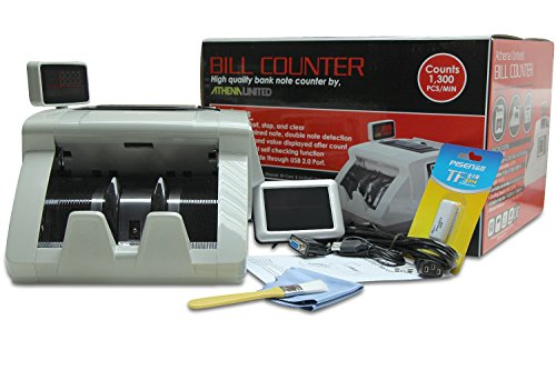 Athena United FT-3800 Professional Money Bills Bank Note Value Counter