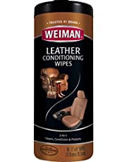 Weiman Leather Wipes, 7 x 8 Inches, (Pack of 30)