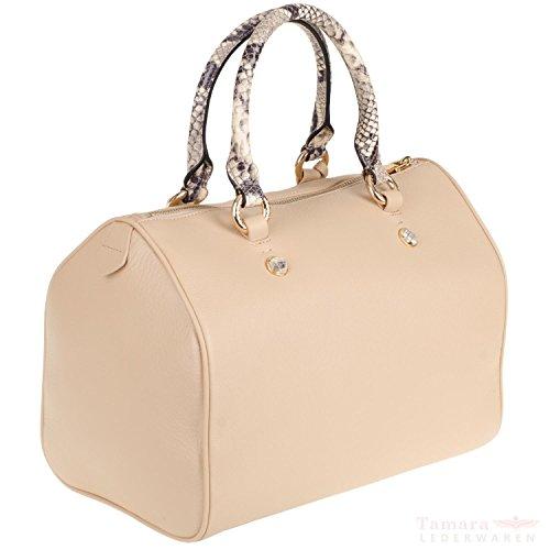 Guess Anjou Box Satchel ANJ2L7209 Damen Leder Henkeltasche 31x22x20cm beige multi
