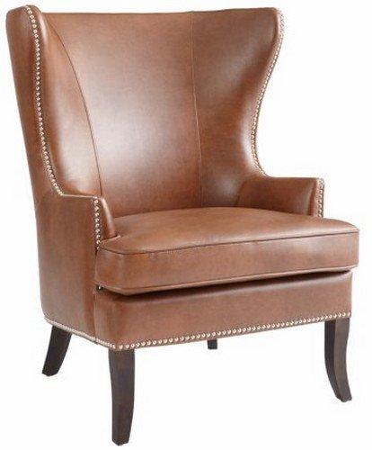 Sunpan Modern Royalton Leather Armchair, 35u0026quot; X 33u0026quot;, Cognac