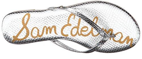 Sam Edelman Oliver - Mules Mujer Plateado - Silber (SOFT SILVER BOMBER IGUANA CROM)