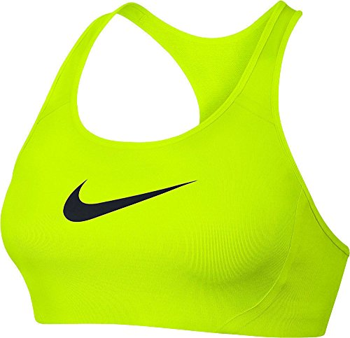 Nike Women's Nike Victory Shape Sports Bra (Large, Volt/Black) (Victory Shape)