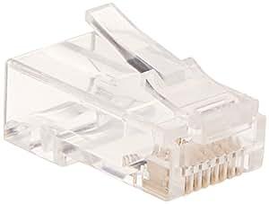 amazon com monoprice cat6 plug solid w insert 50u 100pcs bag rh amazon com