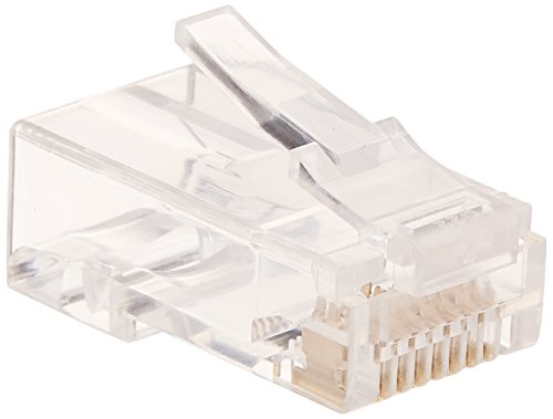 Monoprice Cat6 Plug Solid W/Insert 50U 100pcs/Bag (Plugs Solid)