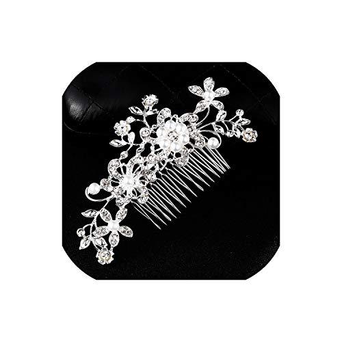 Perfect-Mood Elegant Wedding Hair Combs for Bride Crystal