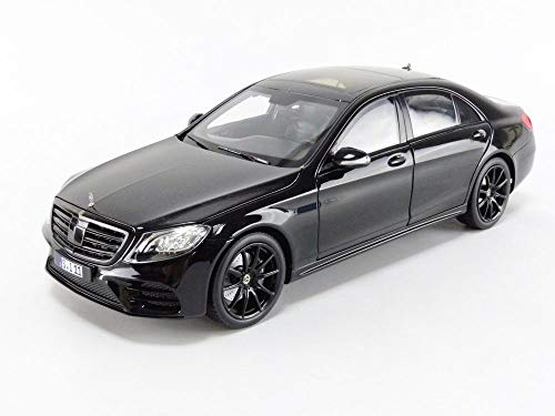 2018 Mercedes Benz S-Class AMG-Line Black 1/18 Diecast Model Car by Norev 183477