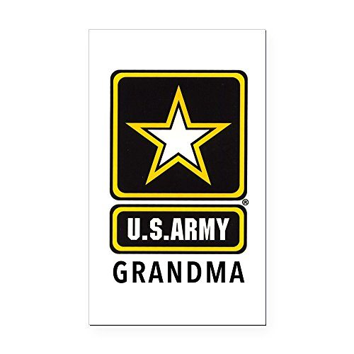 CafePress - Army Grandma Rectangle Car Magnet - Rectangle Car Magnet, Magnetic Bumper Sticker -