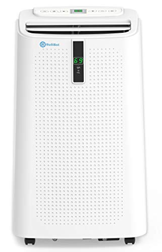 Alexa Enabled RolliCool COOL310 Portable Air Conditioner 12000 BTU - Air Conditioner with Heater, Dehumidifier, and Fan with Mobile App