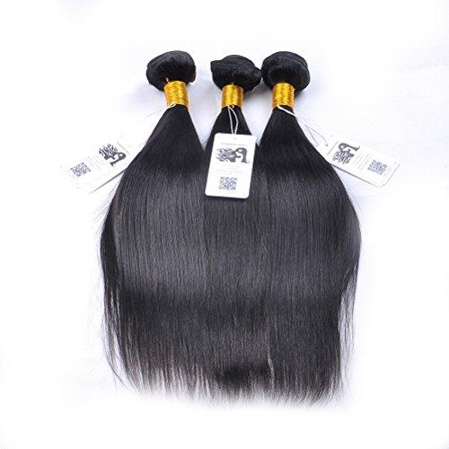 "ISABELLE HAIR Grade AAAAAAA 7A Top Quality 3 Bundles 300 Grams Unprocessed Brazilian Virgin Hair Straight Hair Weave 10"" to 24"" Remy Human Hair Extensions 18 20 22"