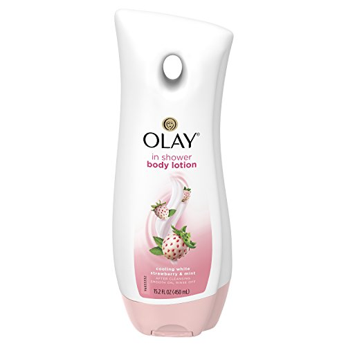 Price comparison product image Olay Cooling White Strawberry and Mint In-Shower Body Lotion, 15.2 Ounce