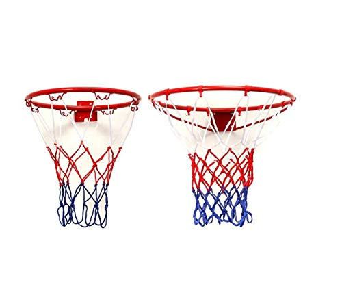 Zhahender Fitness Training 45cm Standard Wall Mounted Basketball Goal Hoop Rim Cylinder Net Outdoor Sports by Zhahender (Image #2)