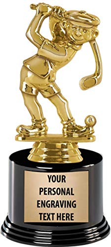 - Crown Awards Golf Trophies with Custom Engraving, 7.25