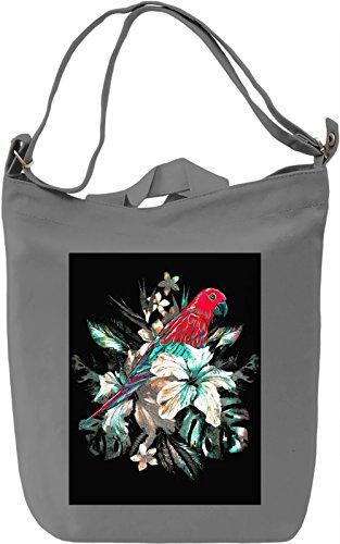 Tropical Parrot Borsa Giornaliera Canvas Canvas Day Bag| 100% Premium Cotton Canvas| DTG Printing|