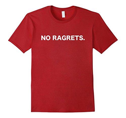 Men's No Ragrets T Shirt  XL Cranberry