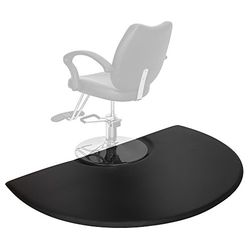 3' Gel Cushion - Mefeir 3 ft. x 5 ft. Semi Circl 7/8'' Thick Antifatigue Comfort Standing Salon Floor Mat,Perfect for Beauty Barber Hair Styling Chair, Ergonomically Engineered, Non-Toxic, Non-Slip, Waterproof
