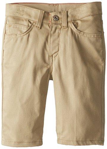 Dickies Big Girls' Skinny Fit 5-Pocket Stretch Twill Short, Desert Sand, 7