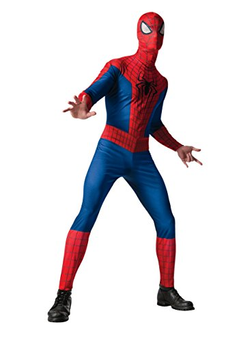 All Spiderman Costumes In Amazing Spider Man (Rubie's Costume Men's Marvel Universe, The Amazing Spider-man 2 Spider-man Costume, Multicolor, One Size)