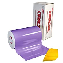"ORACAL 651 12"" x 5ft Roll of Glossy Lavender Repositionable Adhesive-Backed Vinyl for Craft Cutters, Punches and Vinyl Sign Cutters w/ FREE Applicator Squeegee"