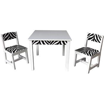 Amazoncom Inskeppa Safari Collection Kids Wood Zebra Table and