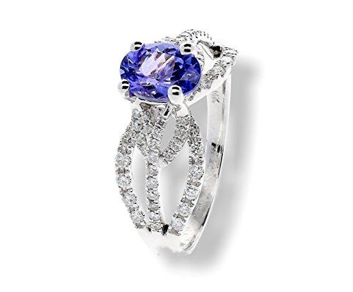 Natural Diamonds & Tanzanite Ring 1.91ctw 14k